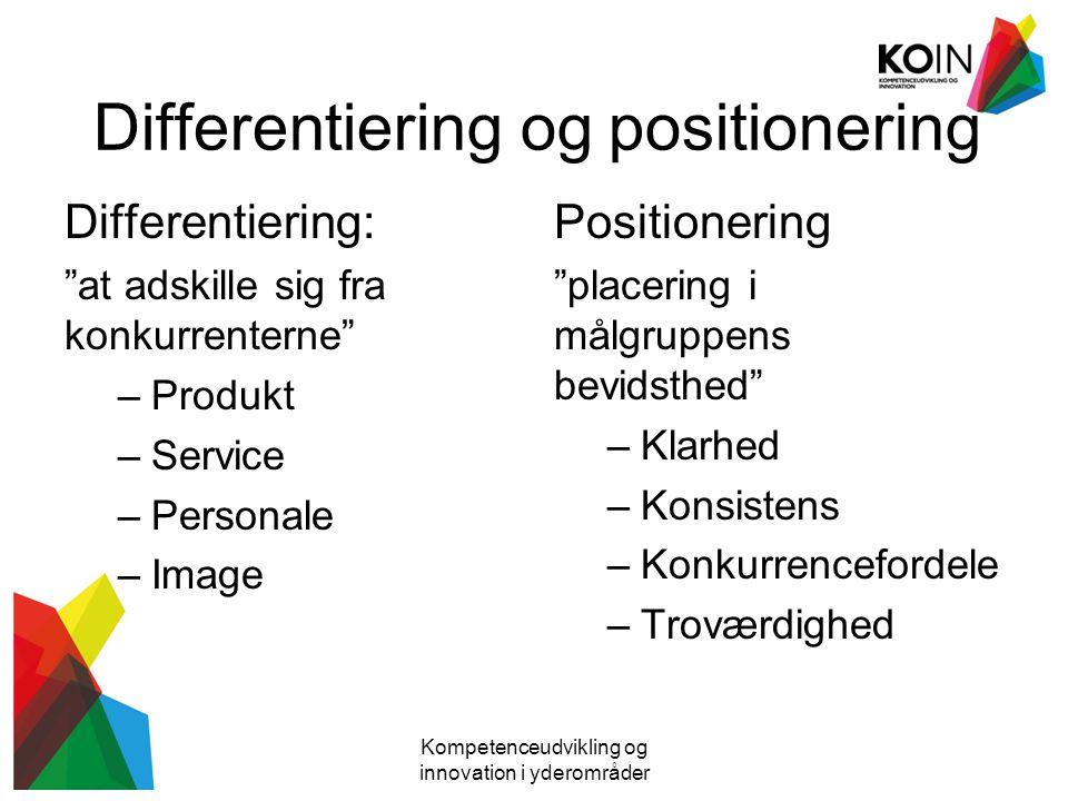 Differentiering og positionering