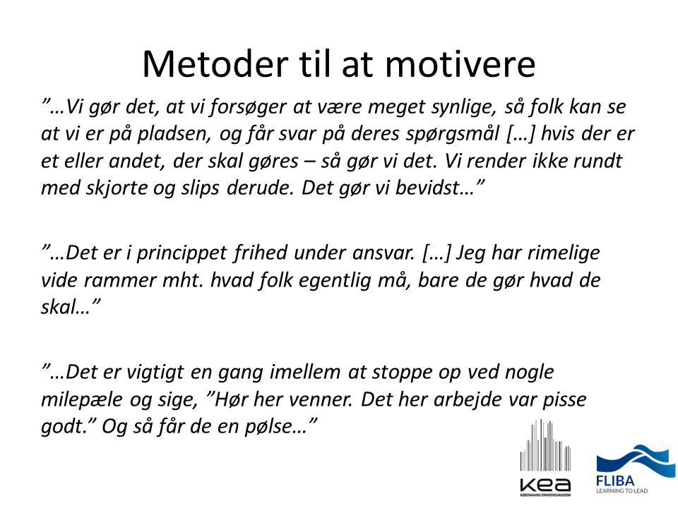 Metoder til at motivere