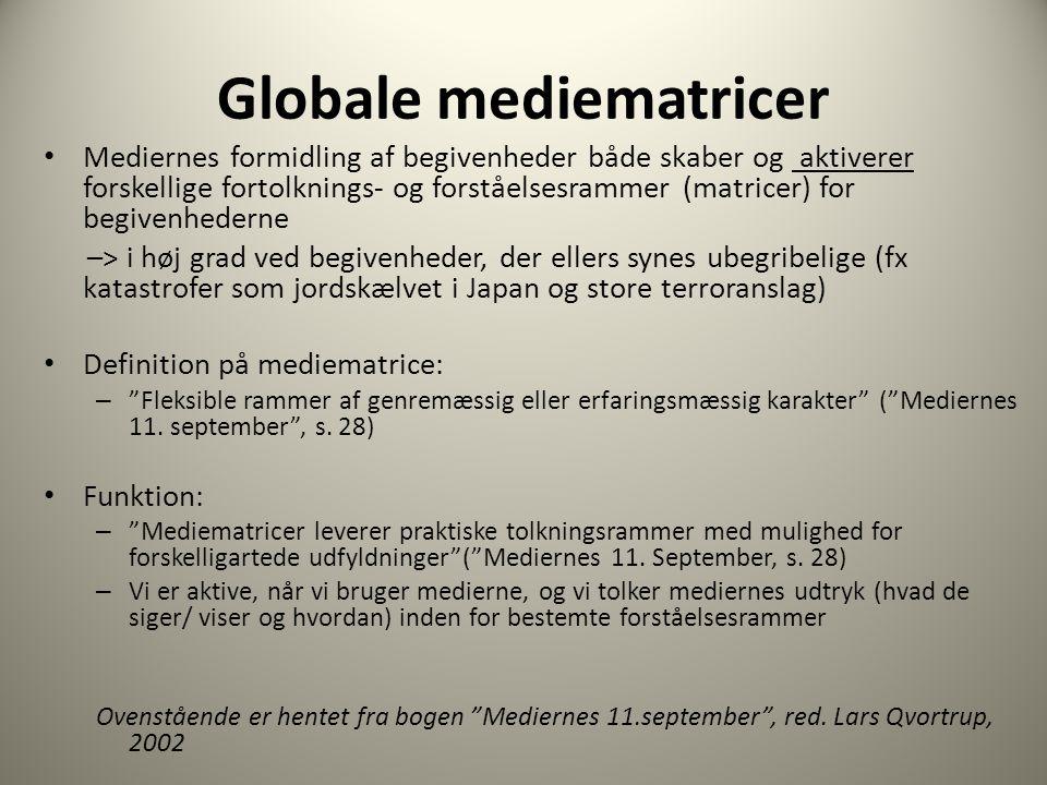 Globale mediematricer