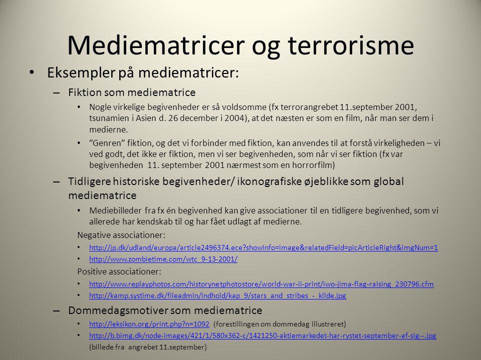 Mediematricer og terrorisme