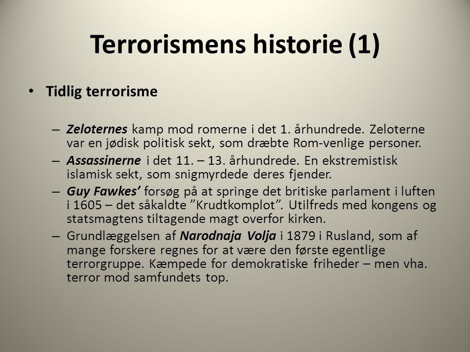 Terrorismens historie (1)