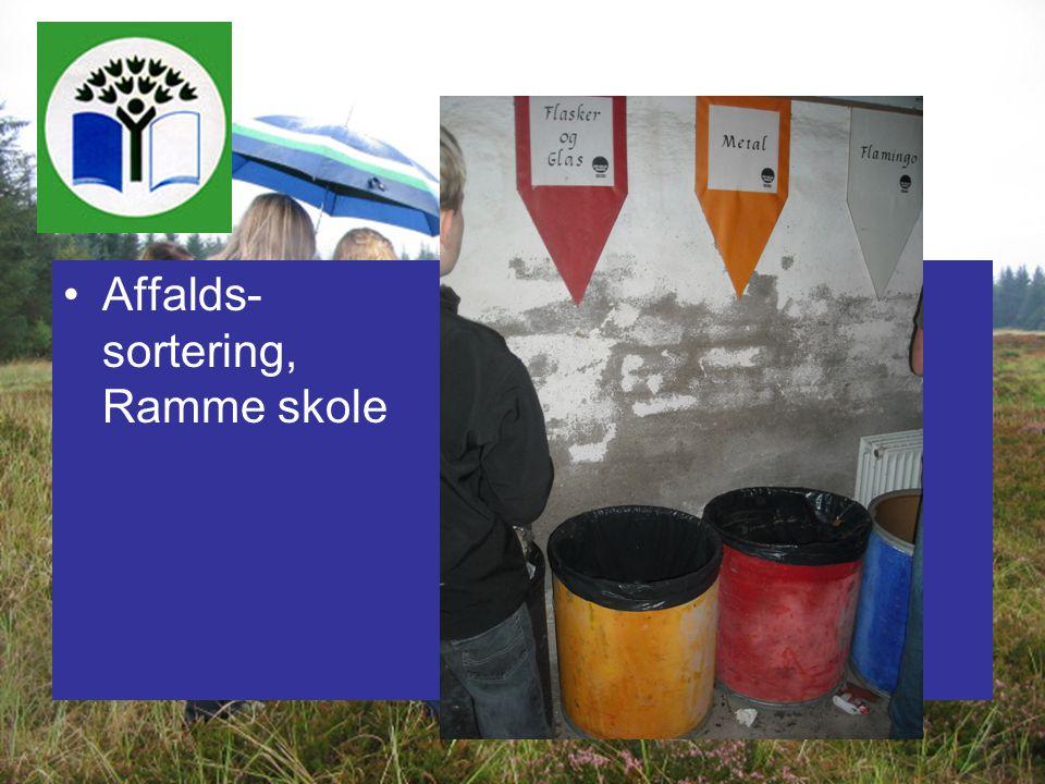 Affalds- sortering, Ramme skole