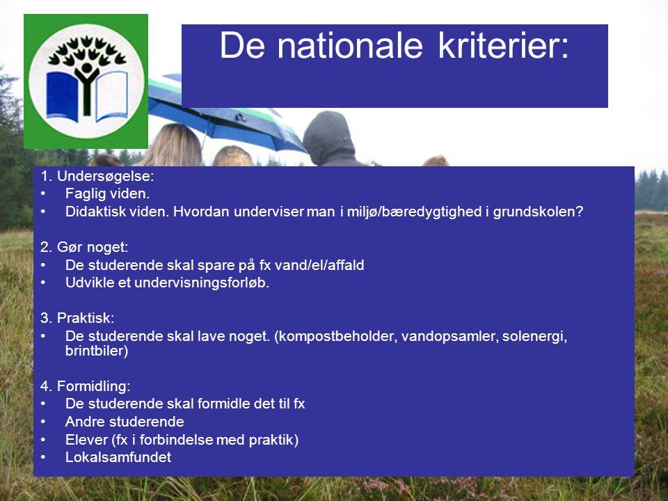 De nationale kriterier: