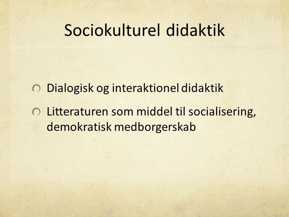 Sociokulturel didaktik
