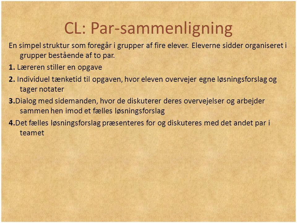 CL: Par-sammenligning