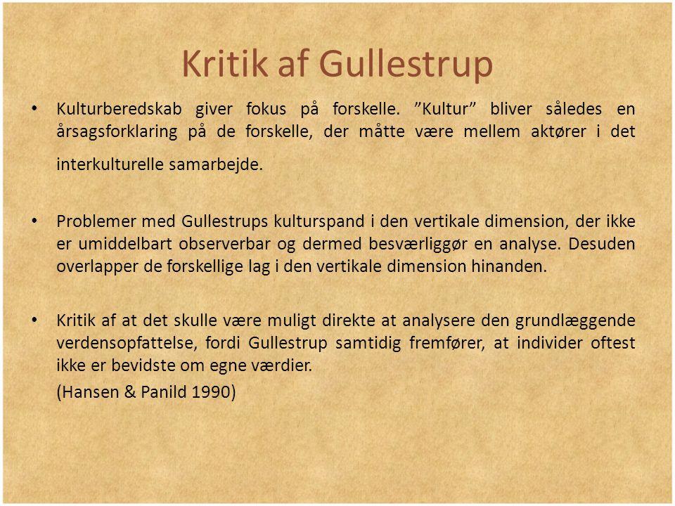 Kritik af Gullestrup