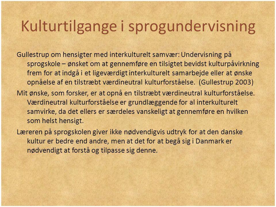 Kulturtilgange i sprogundervisning