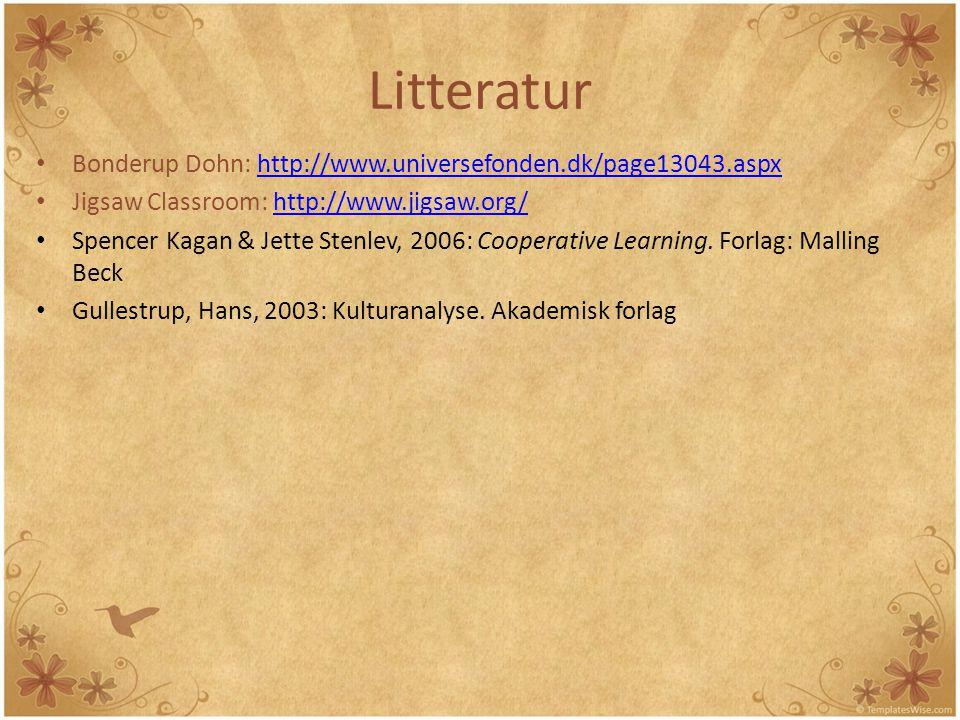 Litteratur Bonderup Dohn: http://www.universefonden.dk/page13043.aspx