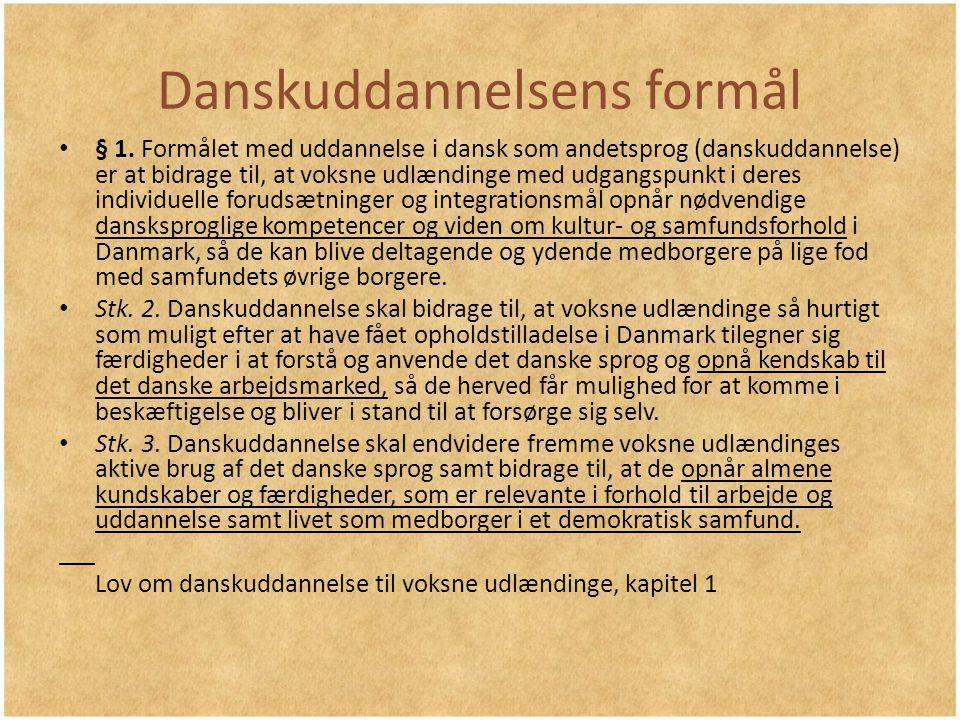 Danskuddannelsens formål