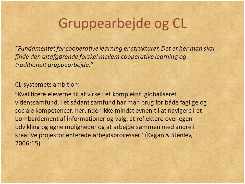 Gruppearbejde og CL