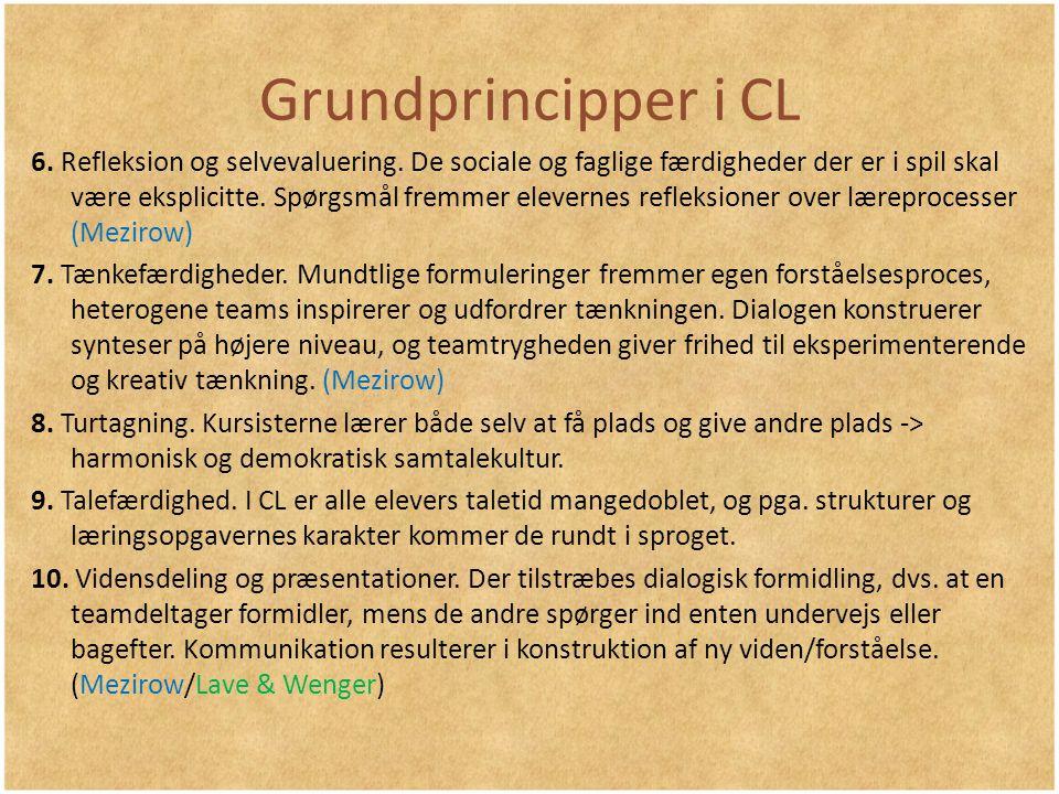 Grundprincipper i CL