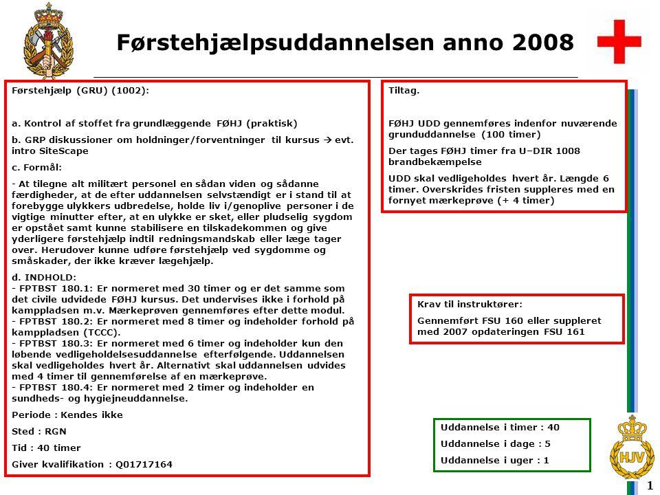 Førstehjælpsuddannelsen anno 2008