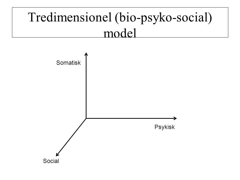 Tredimensionel (bio-psyko-social) model