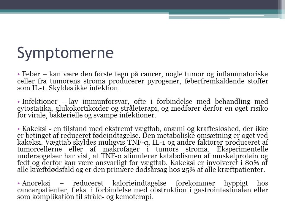 Symptomerne