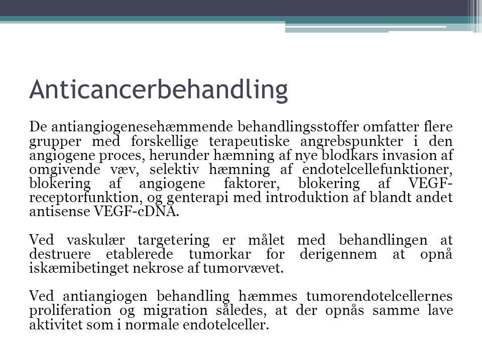 Anticancerbehandling