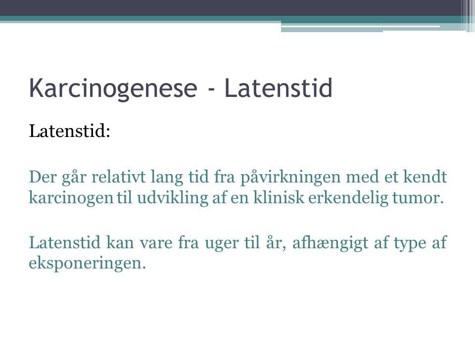 Karcinogenese - Latenstid