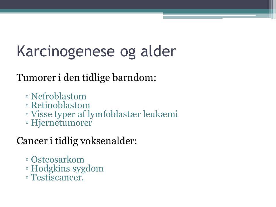Karcinogenese og alder