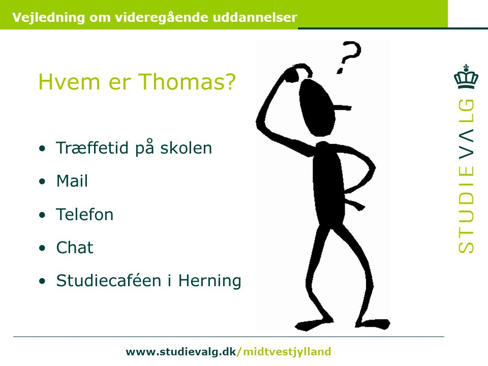 Hvem er Thomas Træffetid på skolen Mail Telefon Chat