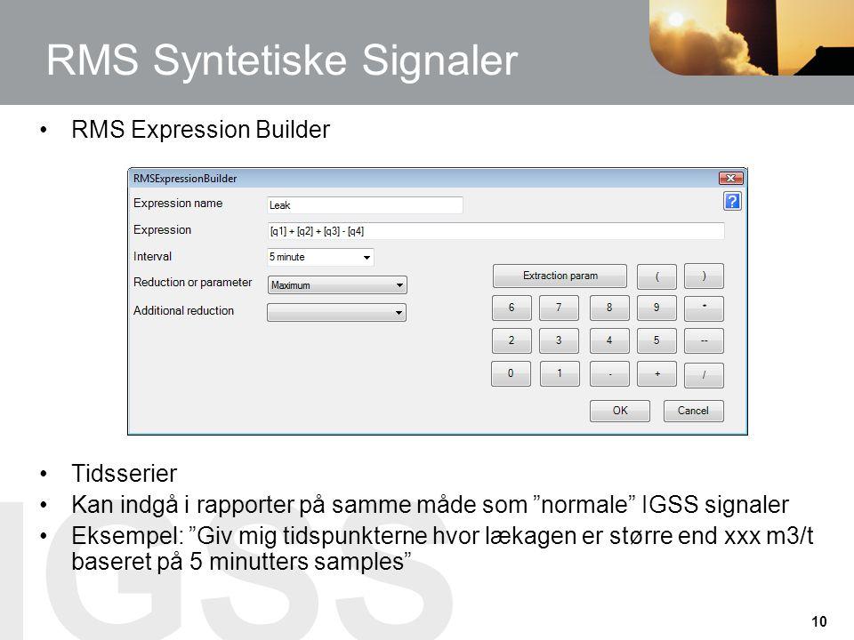 RMS Syntetiske Signaler