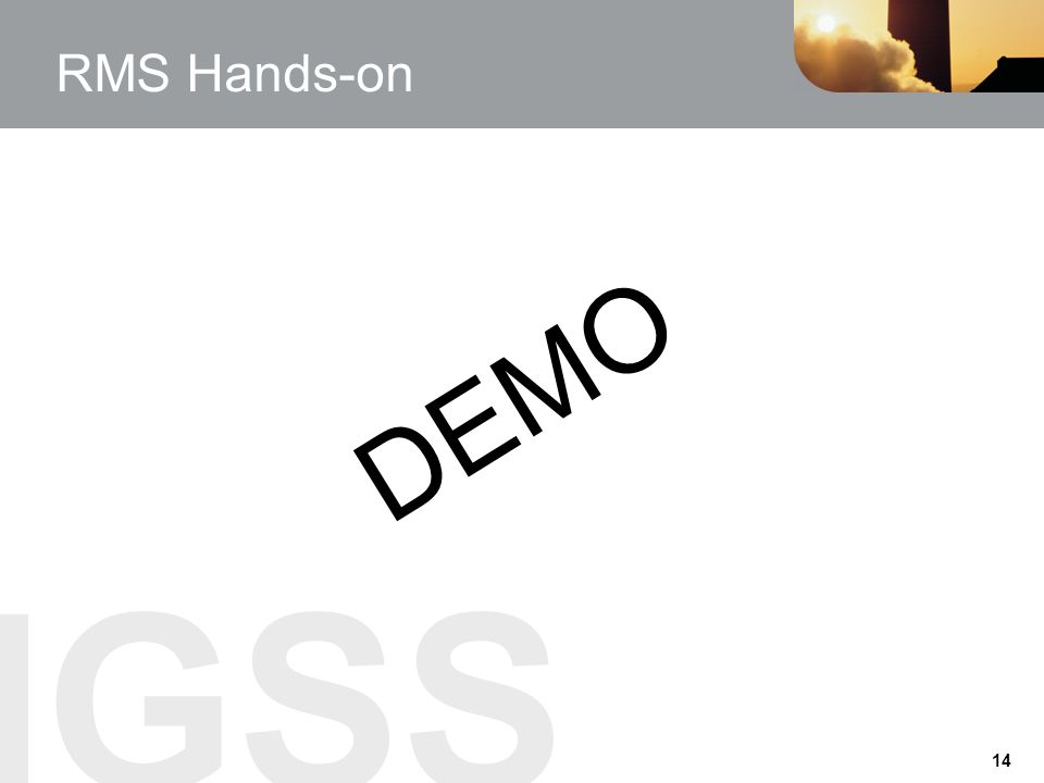 RMS Hands-on DEMO