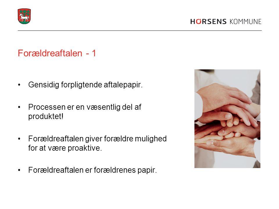 Forældreaftalen - 1 Gensidig forpligtende aftalepapir.