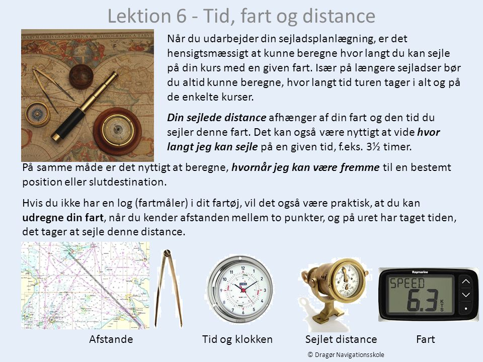 Lektion 6 - Tid, fart og distance