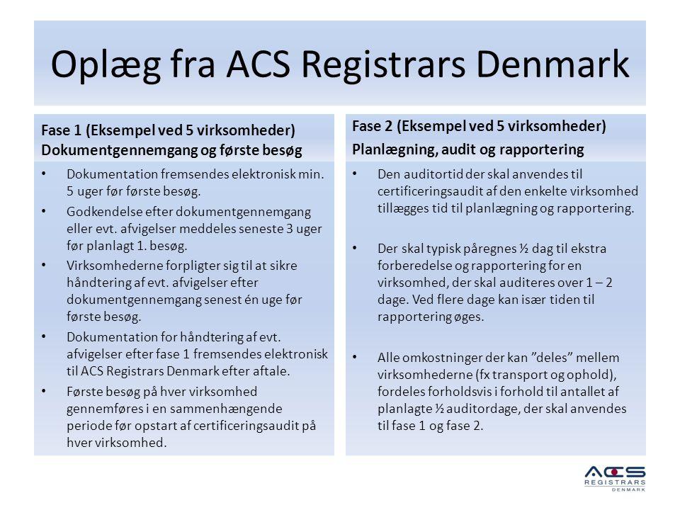 Oplæg fra ACS Registrars Denmark
