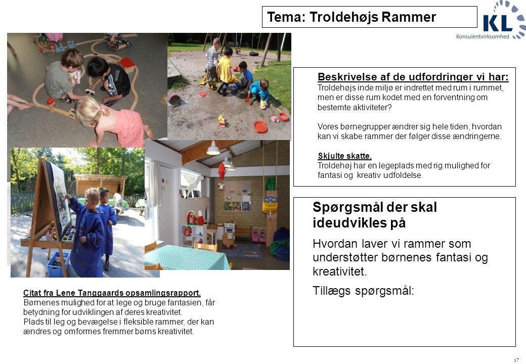 Tema: Troldehøjs Rammer