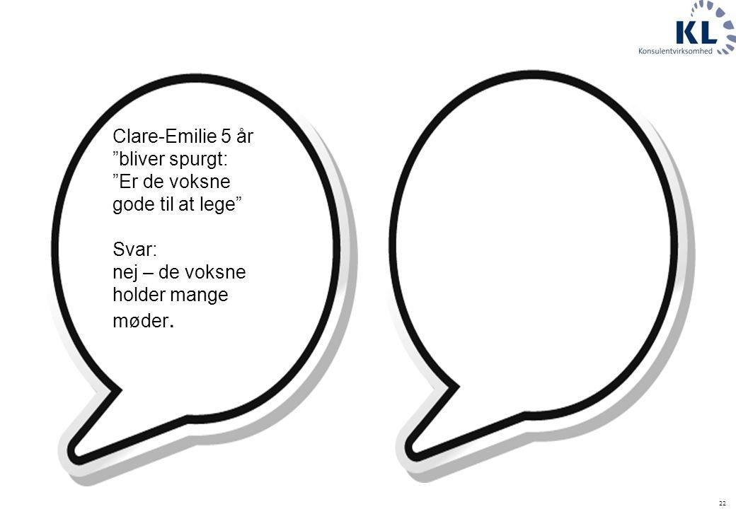Clare-Emilie 5 år bliver spurgt: