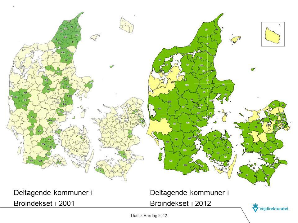 Deltagende kommuner i Broindekset i 2001 Deltagende kommuner i
