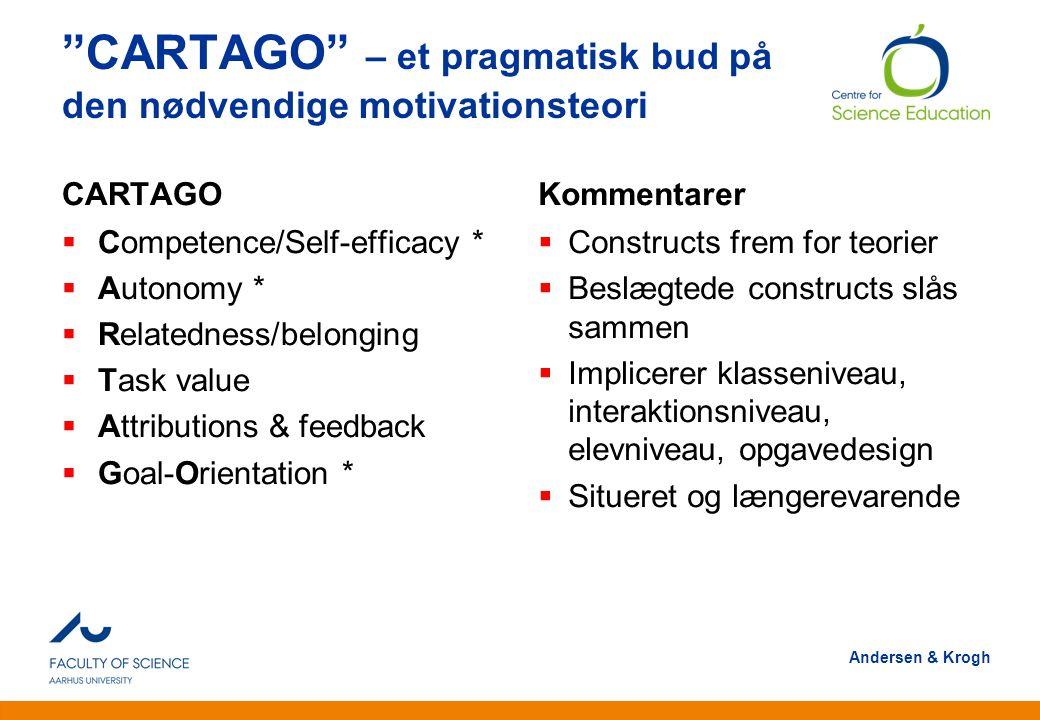 CARTAGO – et pragmatisk bud på den nødvendige motivationsteori