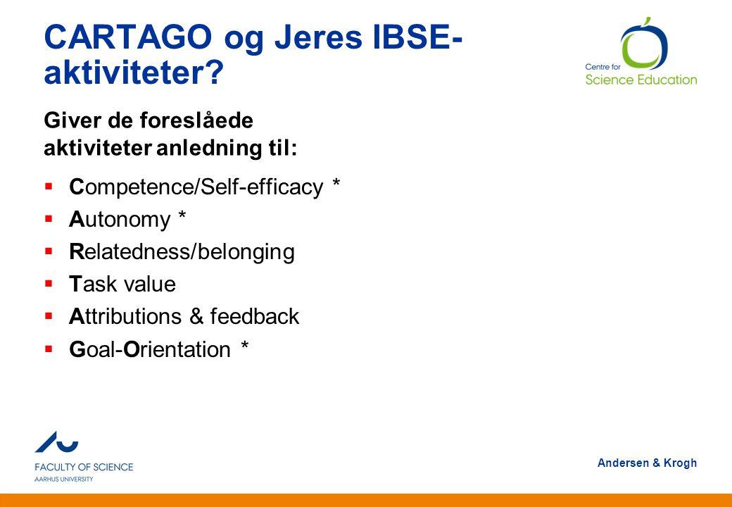 CARTAGO og Jeres IBSE-aktiviteter
