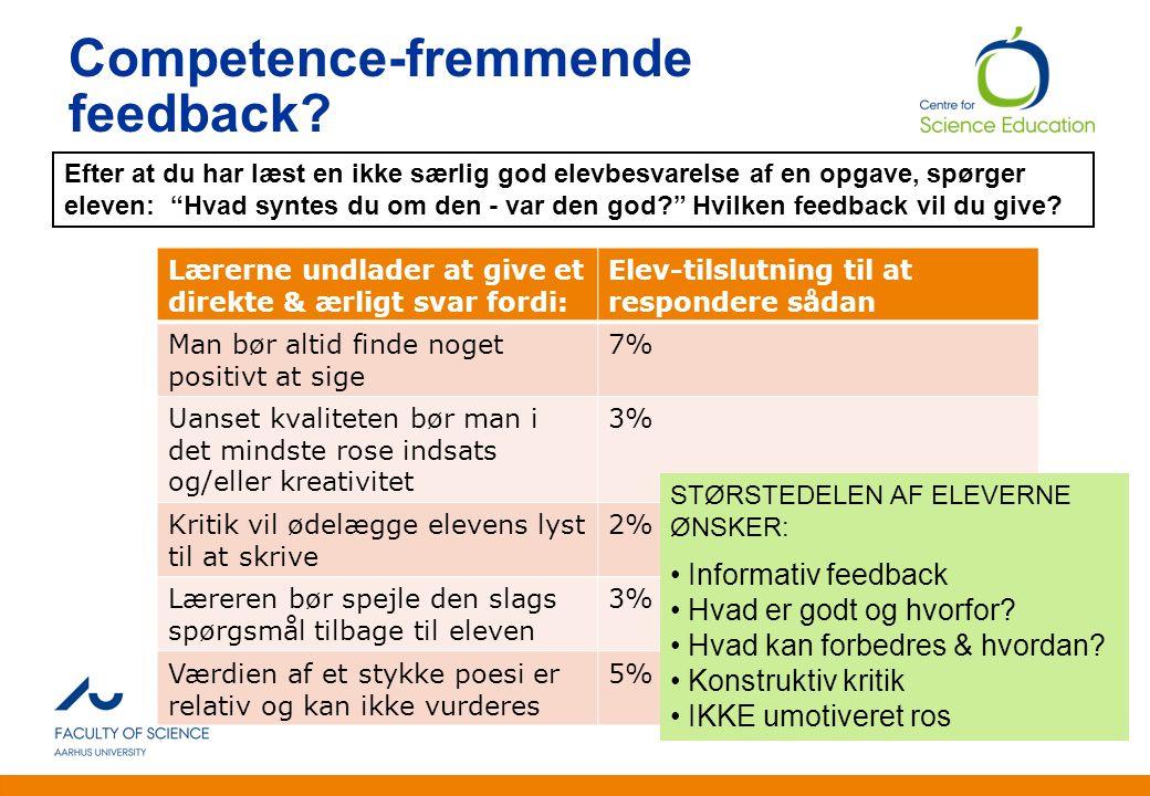 Competence-fremmende feedback