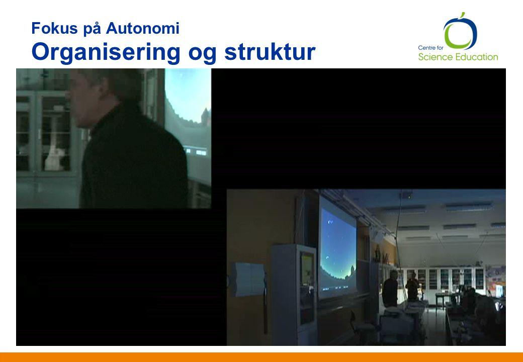 Fokus på Autonomi Organisering og struktur