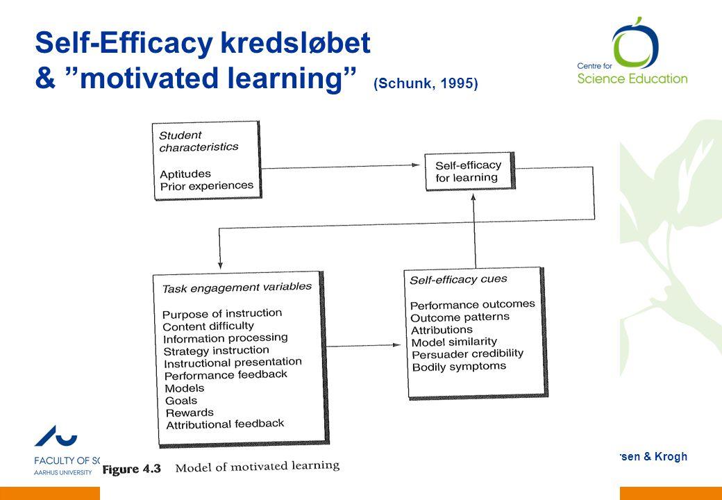Self-Efficacy kredsløbet & motivated learning (Schunk, 1995)