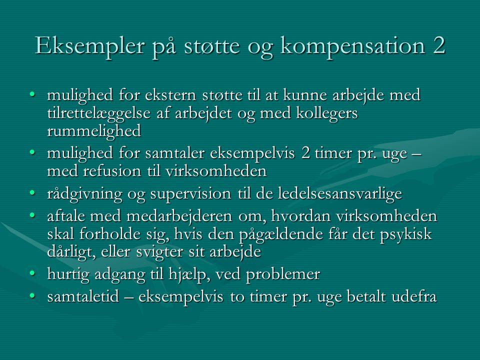Eksempler på støtte og kompensation 2