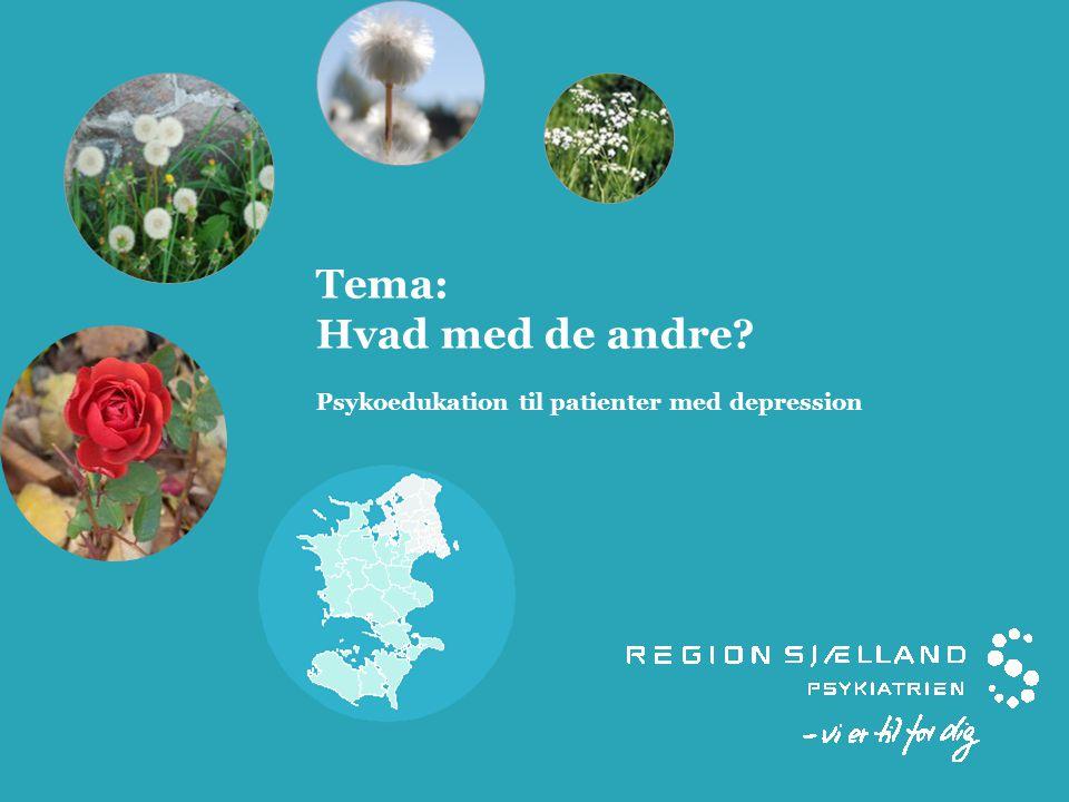 Tema: Hvad med de andre Psykoedukation til patienter med depression