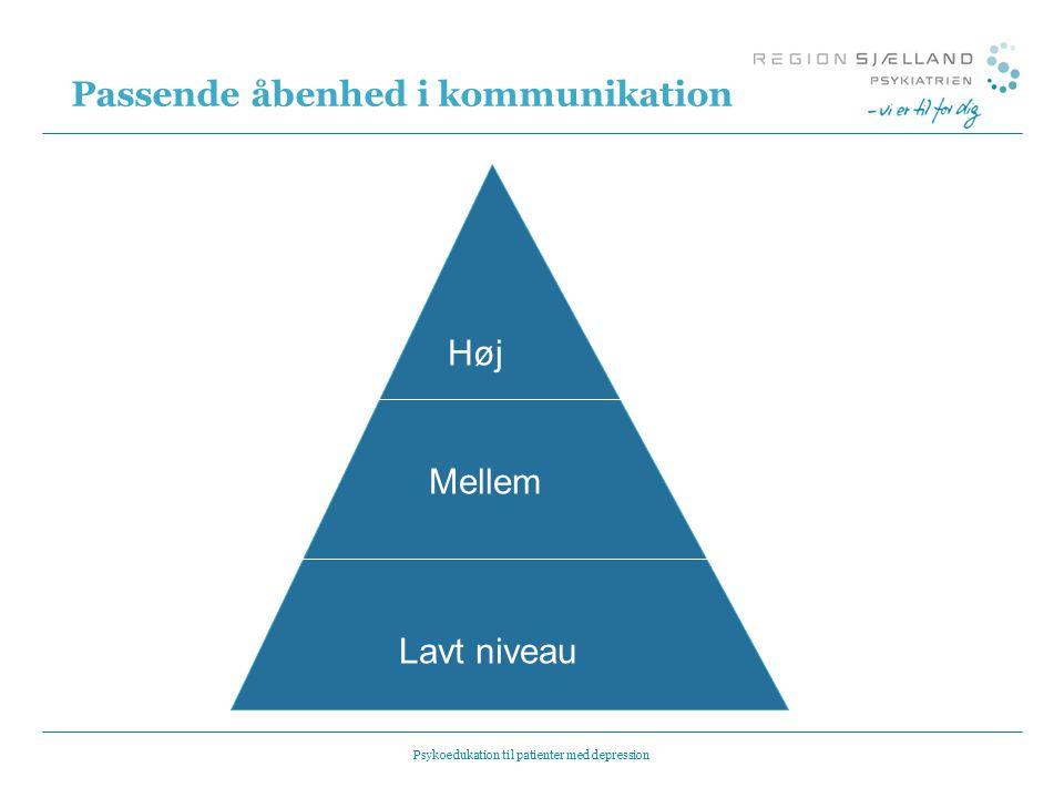 Passende åbenhed i kommunikation
