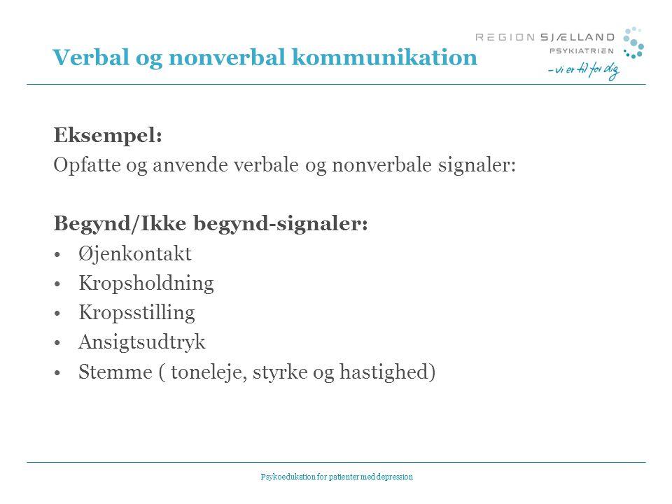 Verbal og nonverbal kommunikation