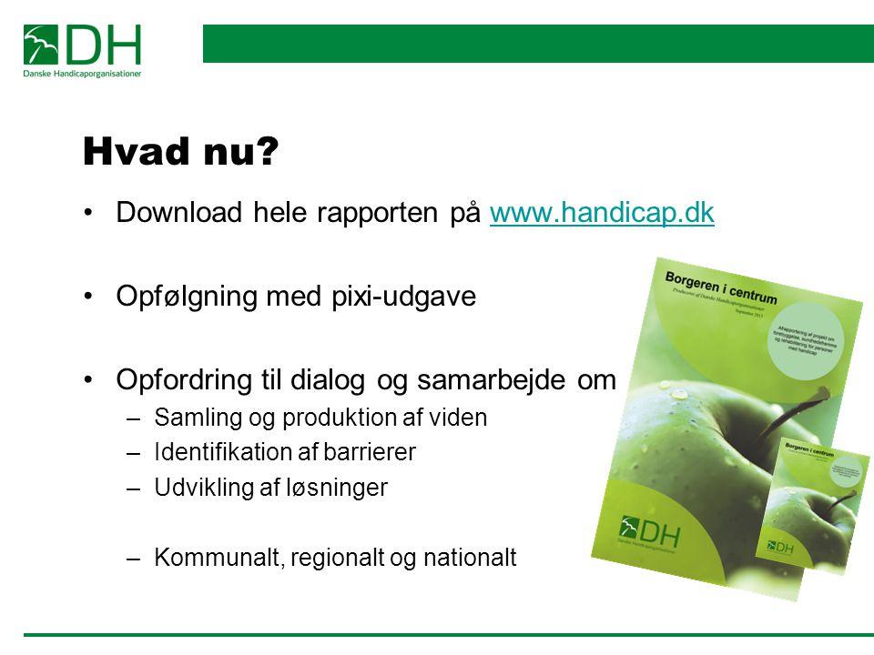 Hvad nu Download hele rapporten på www.handicap.dk