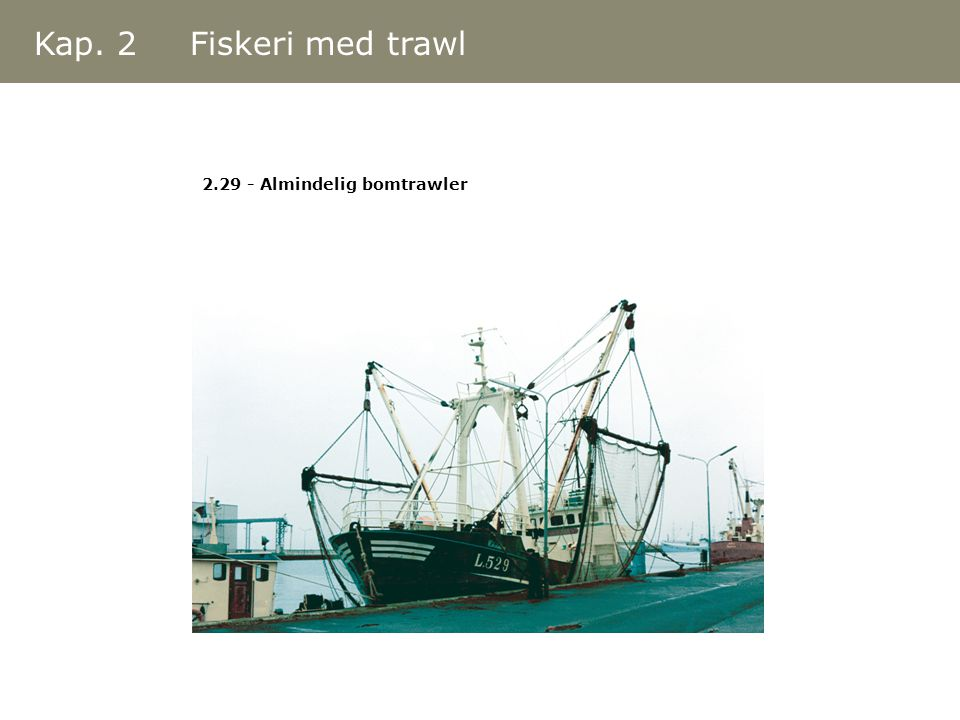 Kap. 2 Fiskeri med trawl 2.29 - Almindelig bomtrawler