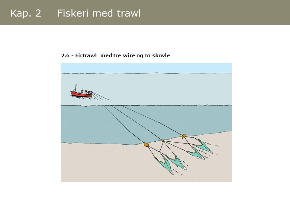 Kap. 2 Fiskeri med trawl 2.6 - Firtrawl med tre wire og to skovle