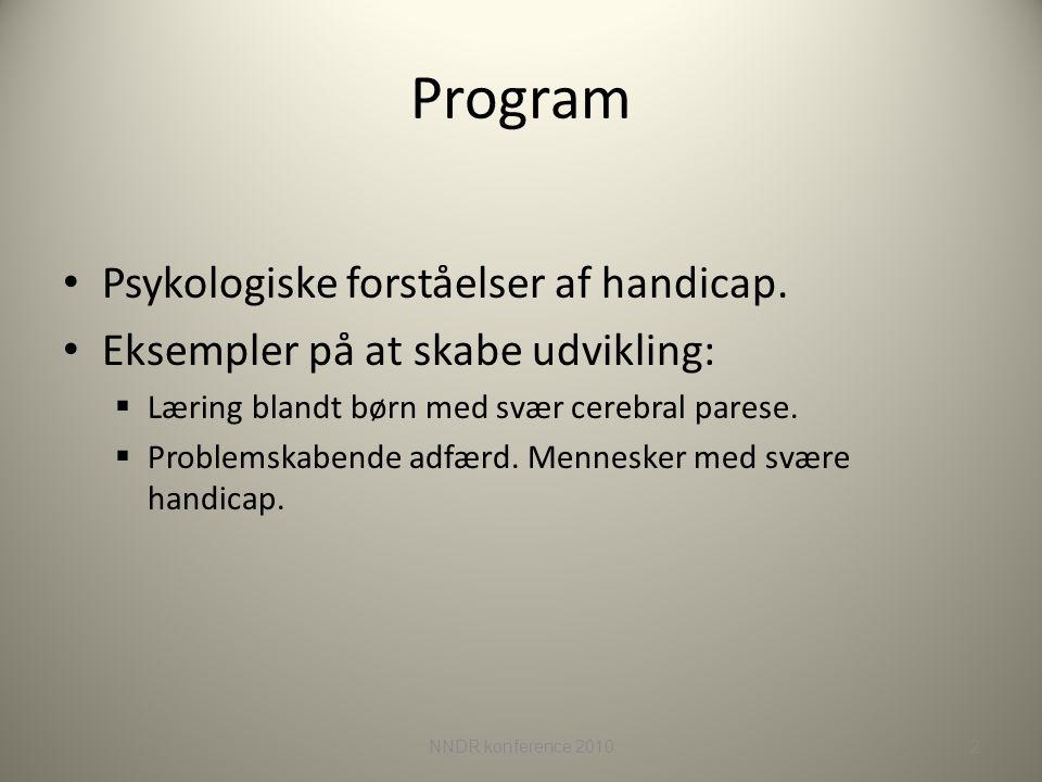 Program Psykologiske forståelser af handicap.