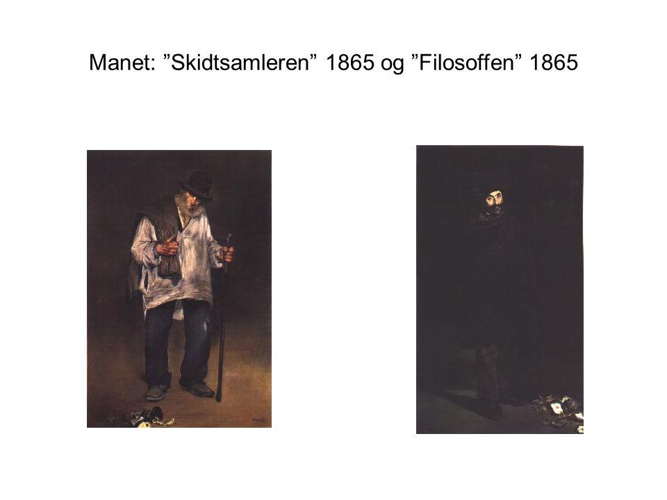 Manet: Skidtsamleren 1865 og Filosoffen 1865