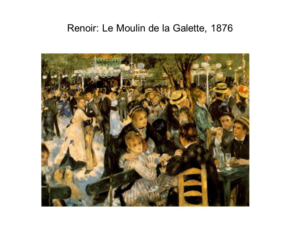Renoir: Le Moulin de la Galette, 1876