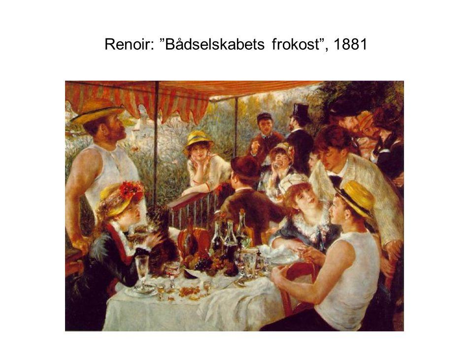 Renoir: Bådselskabets frokost , 1881