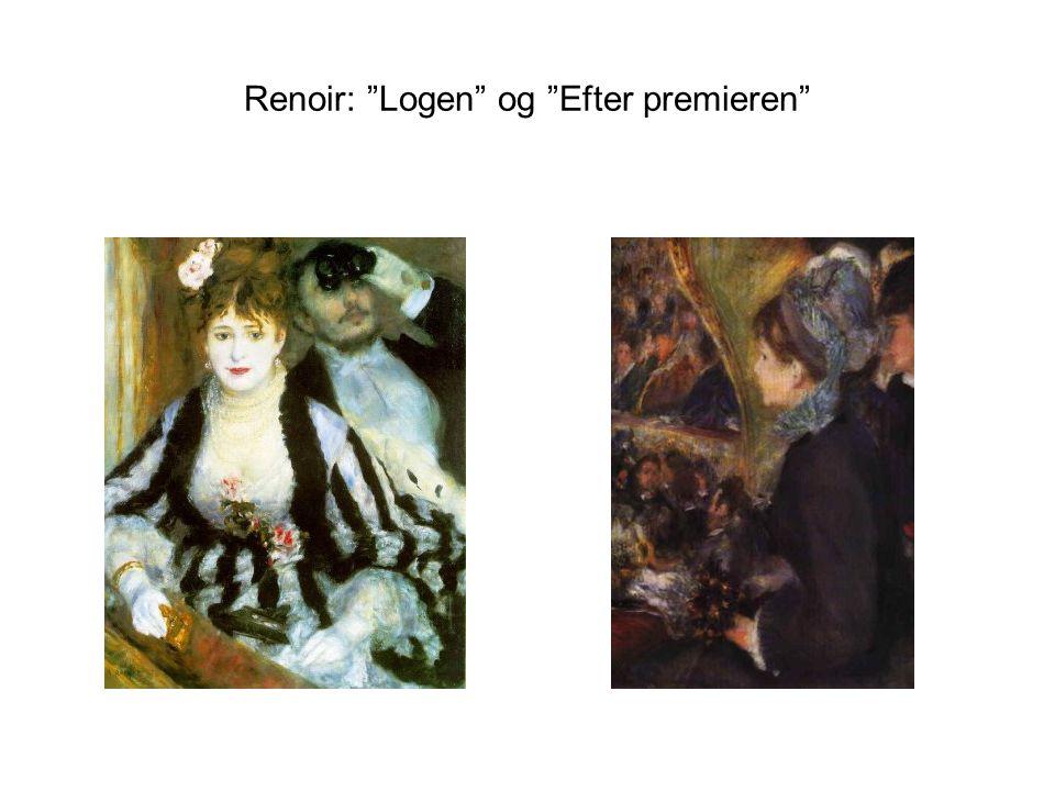 Renoir: Logen og Efter premieren