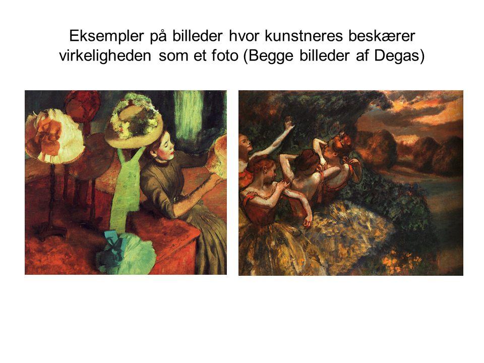 Eksempler på billeder hvor kunstneres beskærer virkeligheden som et foto (Begge billeder af Degas)