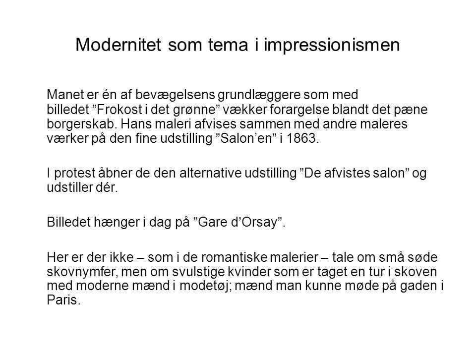 Modernitet som tema i impressionismen