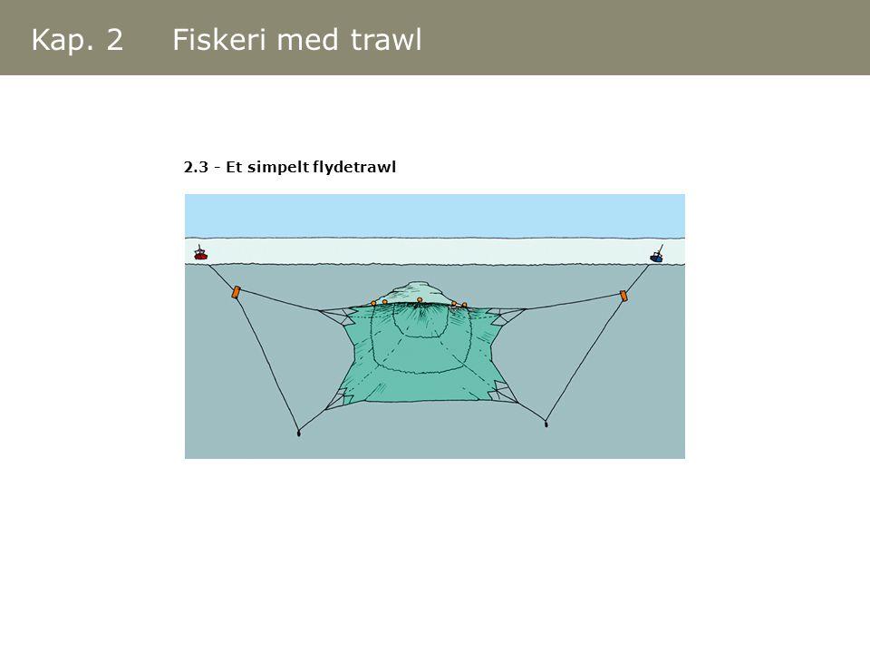 Kap. 2 Fiskeri med trawl 2.3 - Et simpelt flydetrawl